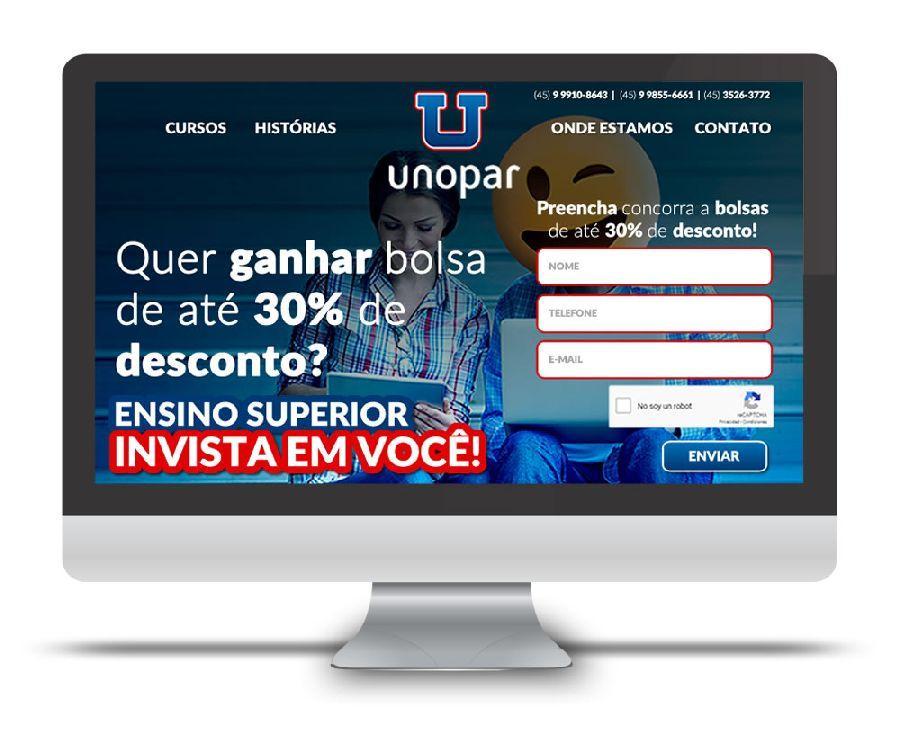 Landing Page Unopar