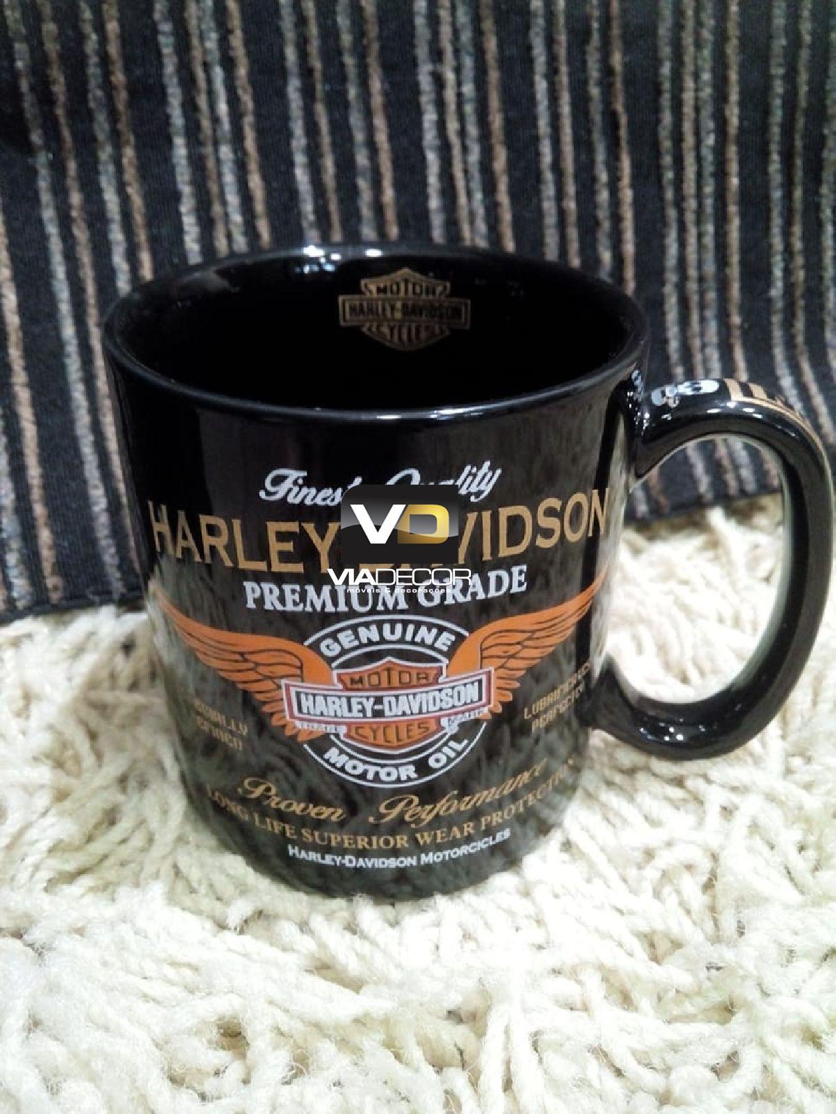 Caneca Harley asas preta